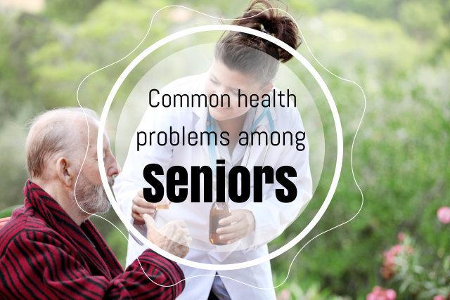 senior taking medicines